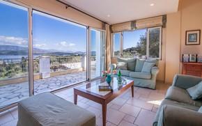Картинка интерьер, гостиная, Corfu, Villa Maria Corfu, Agios Stefanos