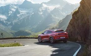 Картинка горы, Mustang, Ford, кроссовер, EU-Spec, 2020, электрокроссовер, Mach-E