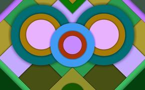 Картинка цвета, круги, фигуры, слои