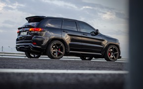 Картинка дорога, закат, srt, road, srt8, jeep, jeep grand cherokee, jeeper, jeep srt, ingushetia, ингушетия, назрань, …