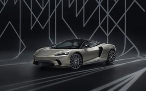 Картинка McLaren, суперкар, MSO, 2019, McLaren GT, Defined Flux Silver