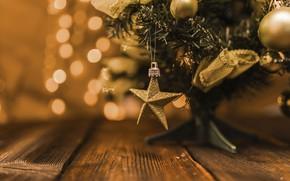 Картинка фон, праздник, новый год, ёлка, украшение