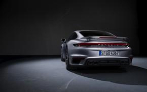 Картинка 911, Porsche, вид сзади, Turbo S, 2020, 992