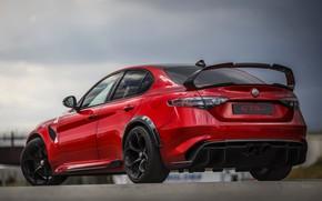 Картинка крыло, Alfa Romeo, задом, Giulia, GTAm, 2020, Gran Turismo Alleggerita modificata