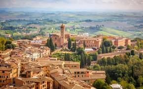 Картинка дома, Италия, панорама, Тоскана, Сиена, церковь Санта Мария дей Серви
