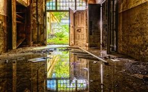 Картинка безнадежность, интерьер, разруха, фабрика