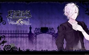 Картинка фон, аниме, арт, вампир, парень, Diabolik Lovers, дьявольские возлюбленные