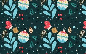 Картинка фон, шары, игрушки, текстура, Stars, Leaves