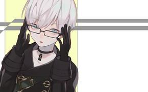 Картинка арт, очки, Nier Automata, YoRHa No 9 Type S