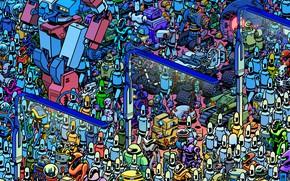Картинка Будущее, Робот, Роботы, Механика, Art, Robot, Robots, Много, Фантастика, Future, March, Move, Ход, Mechanics, Alex …
