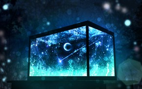 Картинка космос, аквариум, фэнтези