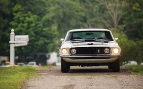 Картинка 1969, Ford Mustang, Muscle Car, 428 Cobra Jet, Mach I