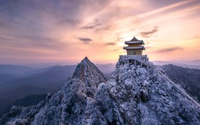 Картинка горы, скалы, Азия, храм