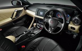 Картинка Nissan, GT-R, салон, R35, JP-Spec, 2019, Naomi Osaka, Japan version