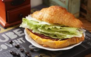 Картинка бутерброд, колбаса, салат