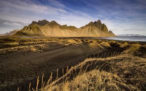 Картинка Iceland, Vestrahorn, Stoksness