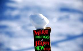 Картинка Christmas, Snow, Holiday, New year