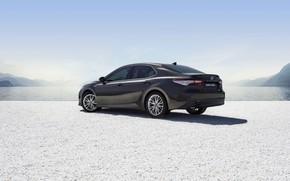 Картинка Toyota, седан, вид сбоку, Hybrid, Camry, 2019