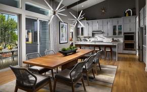Картинка дизайн, стиль, интерьер, кухня, столовая, Luxury Home in Denver