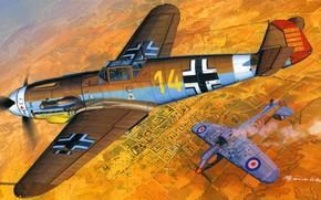 Картинка Messerschmitt, Luftwaffe, Bf-109F, Bf-109F-4/trop