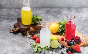Картинка ягоды, напиток, лимоны, малиновый, фреш, лимонад, лимонный, • Natasha Breen