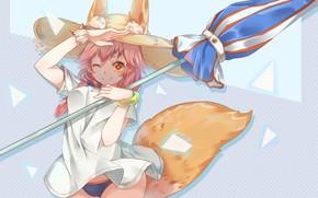 Картинка Девушка, Зонт, Fate / Grand Order, Судьба великая кампания