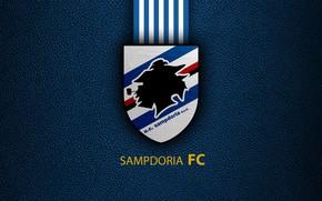 Картинка wallpaper, sport, logo, football, Sampdoria, Italian Seria A