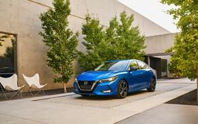 Картинка авто, синий, Nissan, Sentra