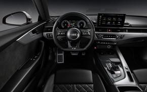 Картинка Audi, TDI, руль, салон, Coupe, Audi S5, 2020