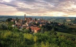 Картинка дома, Италия, панорама, Пьемонт