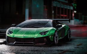 Картинка Lamborghini, NFS, Aventador, Electronic Arts, Need For Speed, Liberty Walk, Need For Speed 2015, game …