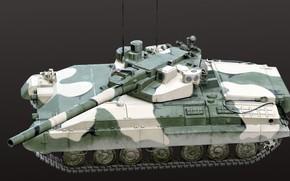 Картинка СССР, Опытный танк, Объект 490А Боксер