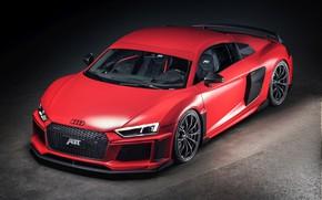 Картинка Audi R8, ABT, V10, Plus, 2017