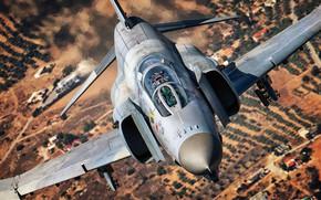 Картинка Истребитель, Пилот, F-4 Phantom II, McDonnell Douglas F-4 Phantom II, Кокпит, ВВС Греции, Hellenic Air …