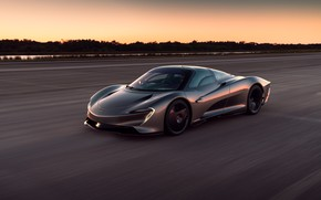 Картинка закат, McLaren, скорость, вечер, суперкар, гиперкар, 2019, Speedtail