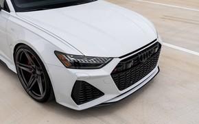 Картинка Audi, White, Face, Avant, RS6, Full LED Lights