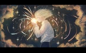 Картинка небо, ночь, звезда, парень
