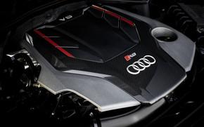 Картинка Audi, двигатель, купе, TFSI, RS 5, 2020, RS5 Coupe, V6 Biturbo, 450 л.с.