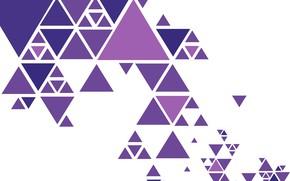 Обои абстракция, vector, colorful, геометрия, background, triangle
