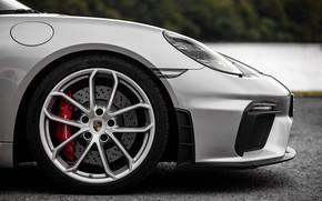 Картинка Porsche, Диск, Колесо, Spyder, Тормозной диск, Porsche 718, 2019, Porsche 718 ( 982 ) Spyder