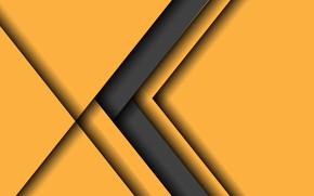Картинка желтый, серый, фон, стрелка, design, material