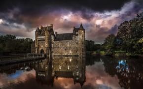 Картинка природа, озеро, замок