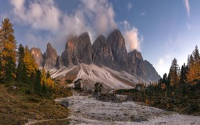 Картинка Italy, South Tyrol, Puez-Geisler Nature Park
