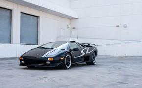 Картинка Black, Supercar, Super Veloce, 1998 Lamborghini Diablo SV