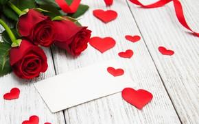 Картинка любовь, розы, сердечки, красные, red, love, romantic, hearts, valentine's day, roses