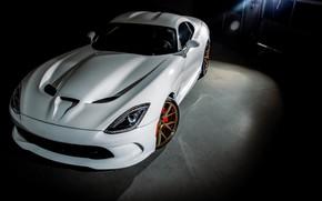 Картинка Dodge, Viper, White, American, SRT, Vossen