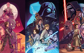 Картинка art, Star wars, posters, Derek Laufman