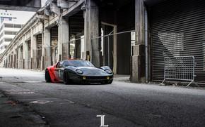 Картинка Красный, Черный, Lamborghini, Машина, Суперкар, Miura, Рендеринг, Concept Art, Lamborghini Miura, Красно-чёрные, Transport & Vehicles, ...