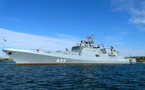 Картинка фрегат, рейд, проект 11356, Адмирал Макаров