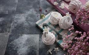Картинка цветы, десерт, зефир